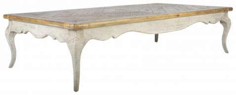 Block & Chisel parquetry inlay coffee table