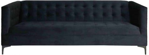 Black cambridge sofa with tufted details and modern style