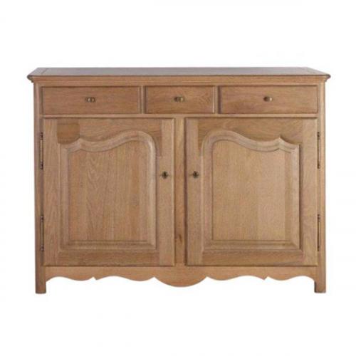 Block and chisel 2 door 3 drawer buffet server in oak