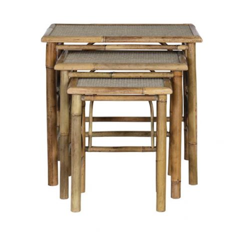 Terry Nesting Tables made from bamboo and plywood