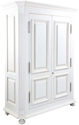 Block & Chisel solid oak armoire in antique white