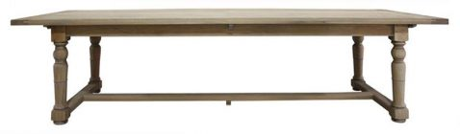 Block & Chisel grey wash oak dining table