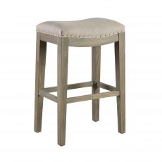 Sally barstool or kitchen stool linen with soft padded top seating