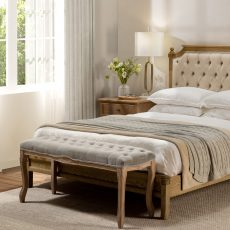 french style buttoned bedend