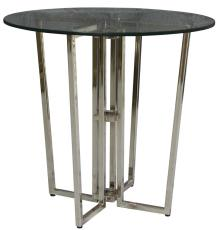 Block & Chisel nickel side table