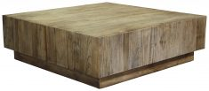 Block & Chisel square elm wood coffee table