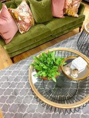 Block & Chisel sand wool rug with geometric pattern