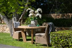 Block & Chisel rattan outdoor dining chair