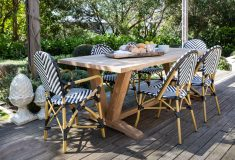 Block & Chisel rectangular recycled teak dining table