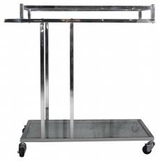 Block & Chisel steel and chrome trolley