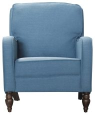 Block & Chisel blue upholstered leisure chair