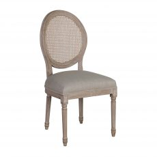 Margot Dining Chair - with cream linen upholstery, french inspired wooden frame