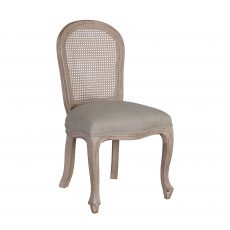 Arthur Dining Chair - with cream upholstery, french inspired wooden frame