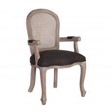 Block & Chisel charcoal upholstered carver dining chair