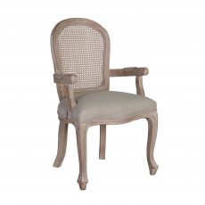 Arthur Carver Dining Chair - with cream upholstery, french inspired wooden frame