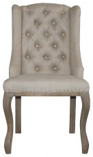Block & Chisel button tufted wingback dining chair