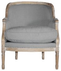 Block & Chisel grey linen upholstered tub chair