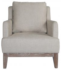 Block & Chisel beige linen upholstered lounge chair