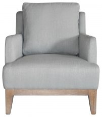 Block & Chisel grey linen upholstered lounge chair