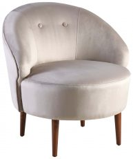 Block & Chisel champagne velvet upholstered tub chair