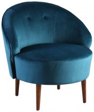 Block & Chisel blue velvet upholstered tub chair
