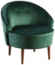 Block & Chisel green velvet upholstered tub chair