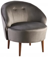 Block & Chisel grey velvet upholstered tub chair