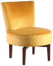 Block & Chisel yellow velvet upholstered swivel chair