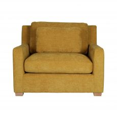 European lounge chair mustard fabric