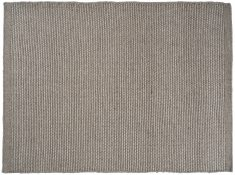 Block & Chisel grey wool rug with grey trim