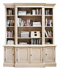 Block & Chisel antique white bookcase