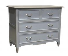 Block & Chisel grey weathered oak 4 drawer chest