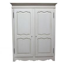 Block & Chisel double door antique white wardrobe