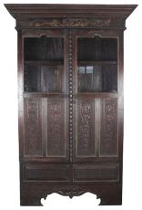 Block & Chisel wooden cabinet with glass
