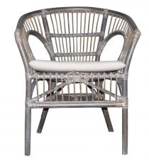 Block & Chisel grey wash rattan armchair