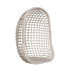Block & Chisel white rattan hanging chair