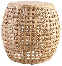 Block & Chisel rattan side table