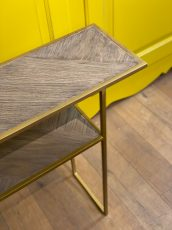 wood metal console