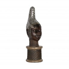 African styled lady with headdress statue