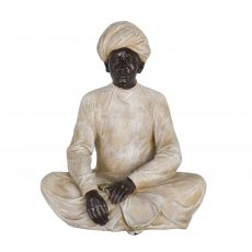 Sikhs sitting in relaxing position, cream
