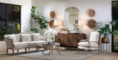 Cream french style seater with cabriole legs