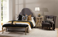 french style deep buttoned bed end
