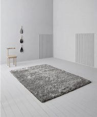 Block & Chisel silver polyester rug