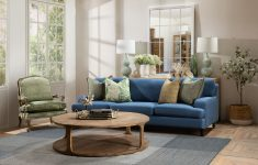 3.5 Seater savoy sofa in blueberry
