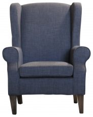 Block & Chisel charcoal linen upholstered wingback chair