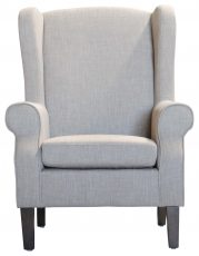 Block & Chisel beige linen upholstered wingback chair