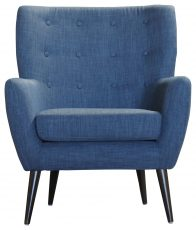 Block & Chisel blue linen upholstered occasional chair