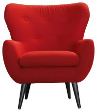 Block & Chisel red linen upholstered occasional chair