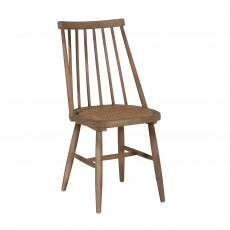 Block & Chisel wooden dining chair with rattan seat