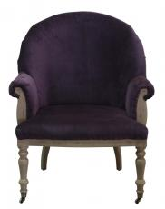 Block & Chisel mauve tub chair